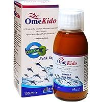 OmeKido Saf Balık Yağı Şurubu 150 ML | Şeftali-Mango Aromalı