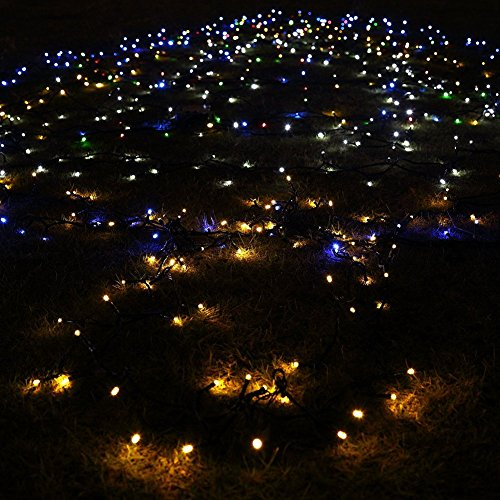 Led string lights komrt outdoor solar fairy decorative for 57in led lighted peacock outdoor christmas decoration