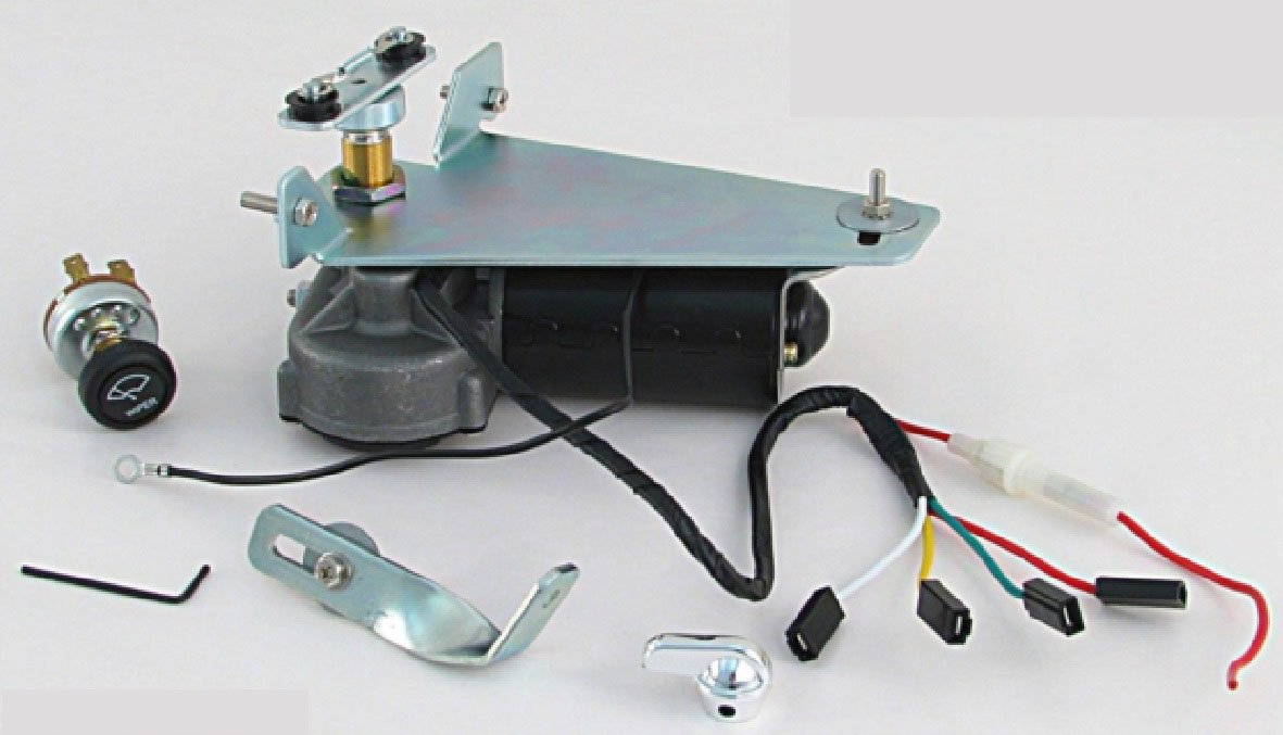 YOT9510 12V Wiper Motor Kit Replaces Original Vacuum unit Fits 1947 - 1953 Truck by YOT