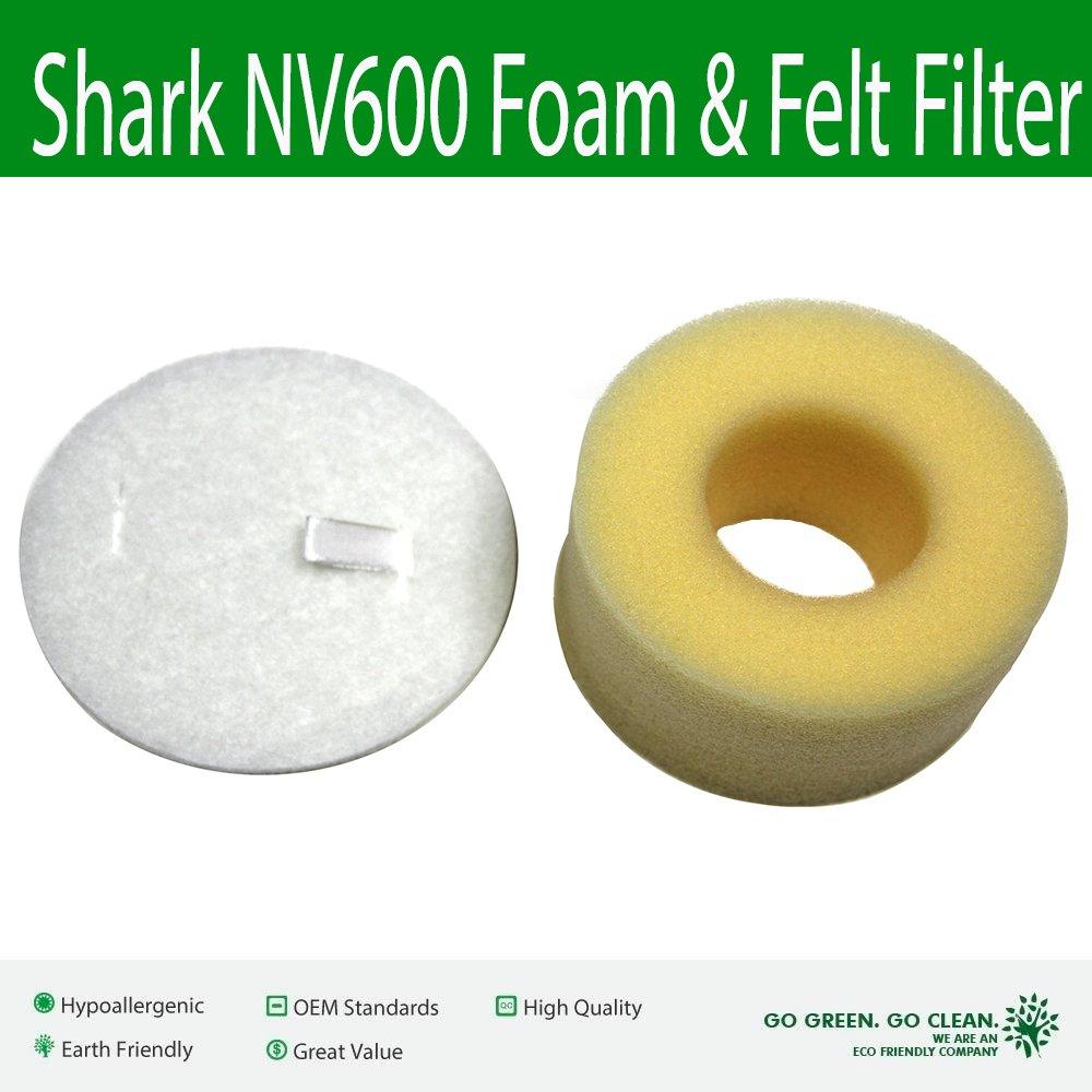 MaximalPower Shark NV600 Foam & Felt Filter Kit Replacement Filter VF SHARK NV600