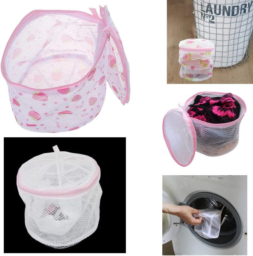 Laundry Saver Washing Machine Aid Bra Lingerie Mesh Wash Basket Bag Pink High