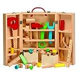 Wooden Carpenters Kit Playset, Tool Toys for Children Kids, Builder Fun Workshop Learning