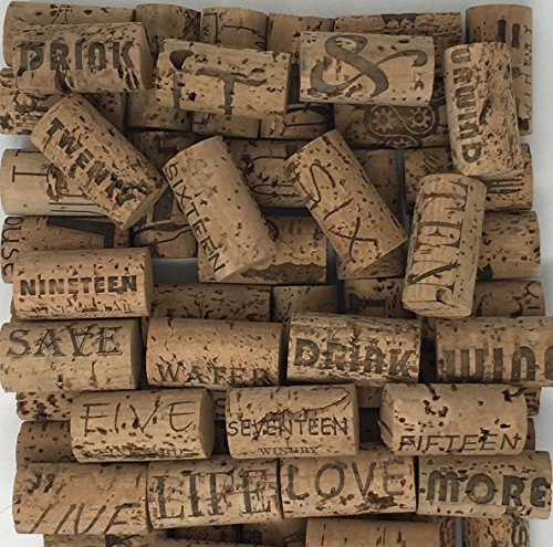 Crafting Wine Corks Brand New, All Natural & Same Size With Printed Marked, Craft Grade Meant for Arts, Crafts, Decor. No Agglomerated or Synthetic. Not For Bottling. (250) by Pro-Grade (Image #3)