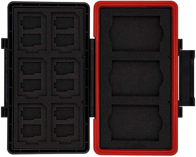 Jjc mc-xqd6 Impermeable Tarjeta De Memoria Estuche Protector Para 6 Xqd Tarjetas