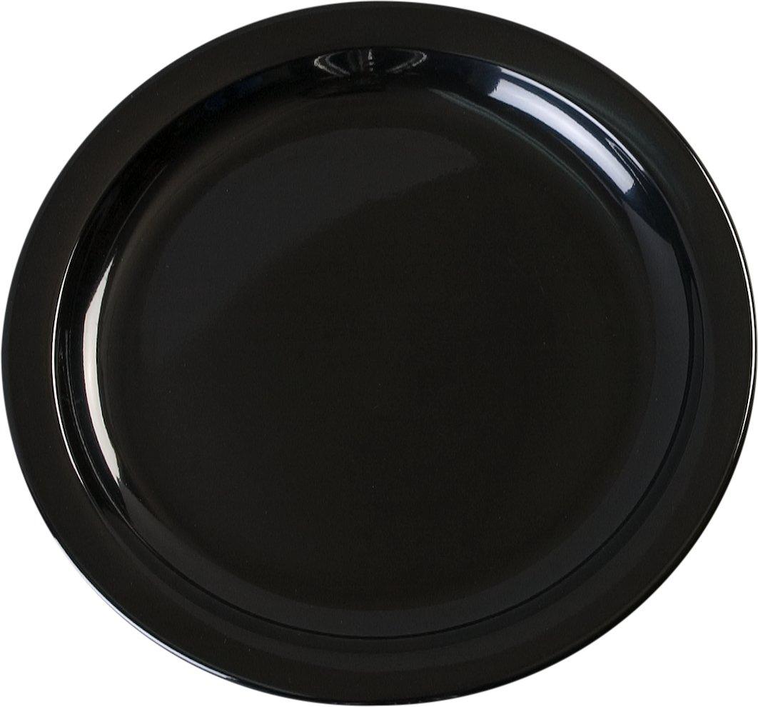Carlisle KL20103 Kingline Sandwich Plates, Set of 48 (7 1/4-Inch, Melamine, Black, NSF)