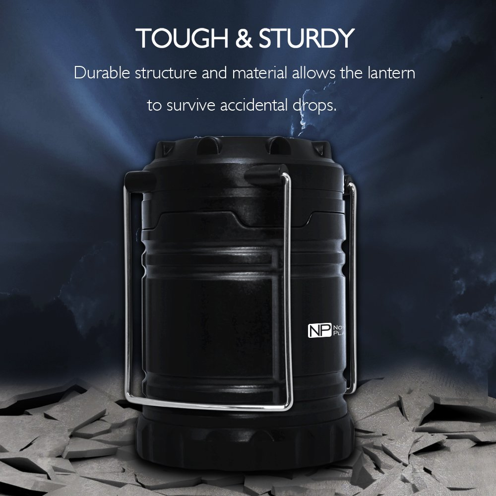 4 Pack Portable LED Camping Lantern, Novelty Place [Heavy Duty & Waterproof] Outdoor Hiking Gear Lights - Ultra Bright Compact Size - Battery Powered Emergency Flashlight by Novelty Place (Image #3)
