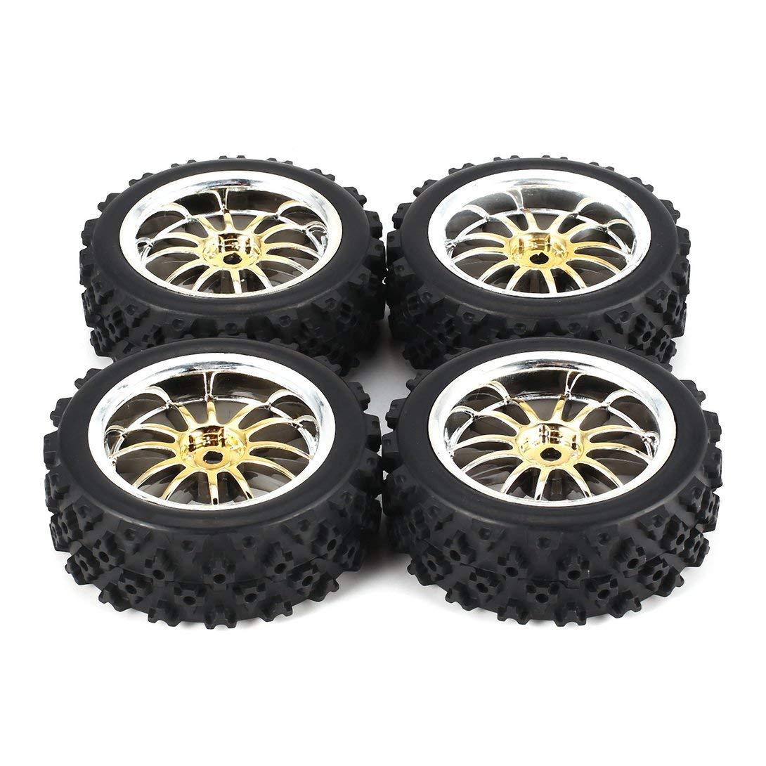 Swiftswan 4 Stücke 70mm Stern Wort Fetal Blume Off-Road Felge und Reifen für HSP HPI 9068ALL 1/10 HSP 94123/94122/94103 / D4 / D3