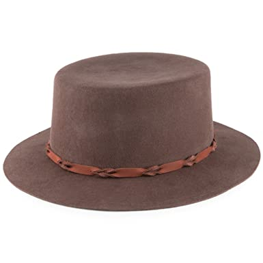 ffedb18d963 Brixton Hats Bridger Wool Felt Hat - Brown Large-60cm  Amazon.co.uk ...