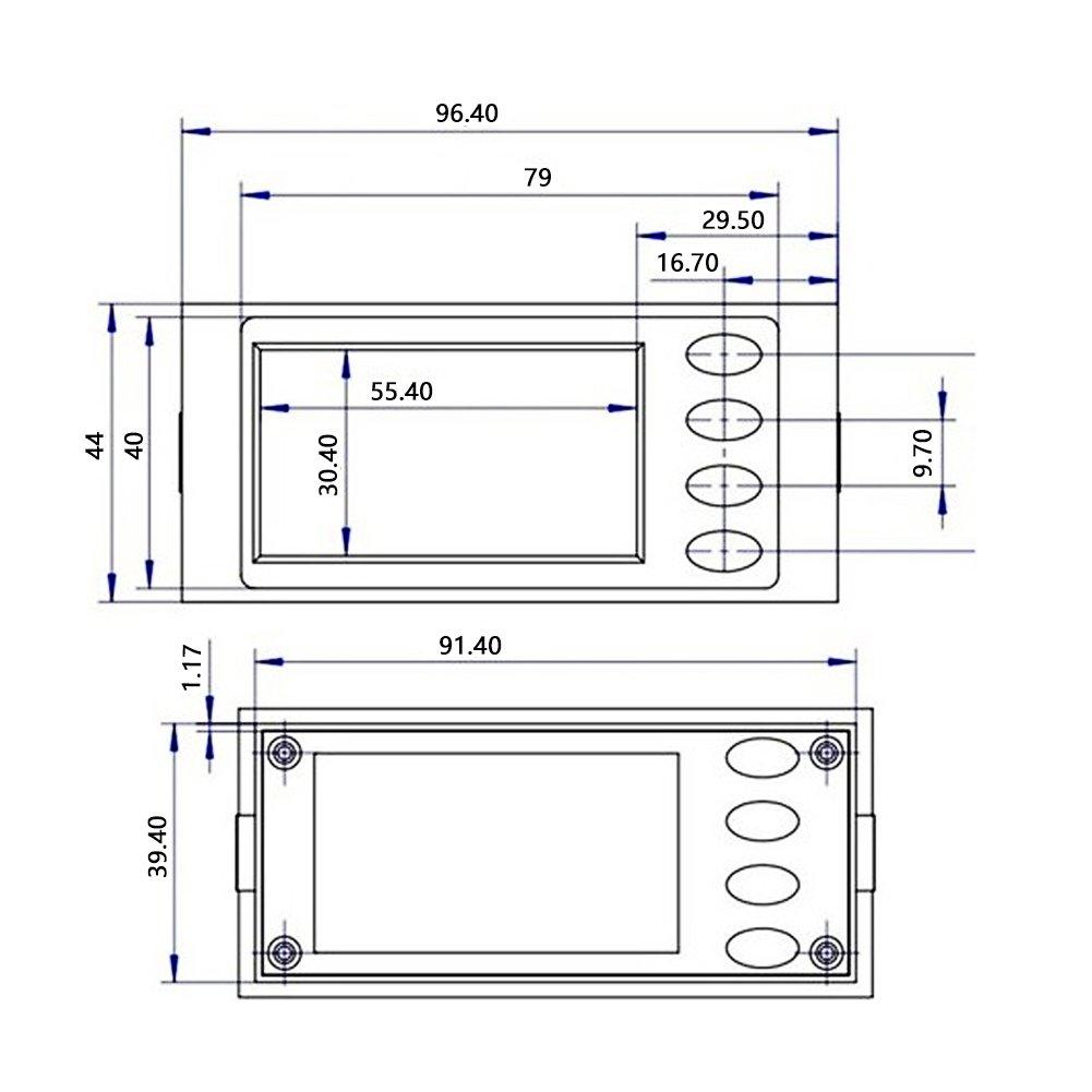 PEACEFAIR Stromzähler-Tester Meter AC 80-260V 100A Strom (Watt ...