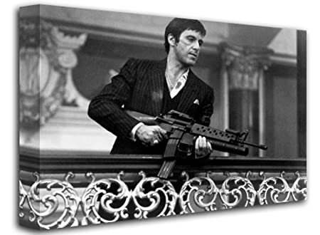 Scarface Tony Montana With Gun 2 Say Hello To My Little Friend