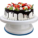 Machak Plastic Round Rotating Revolving Cake Turntable Decorating Stand Platform (Multicolour)
