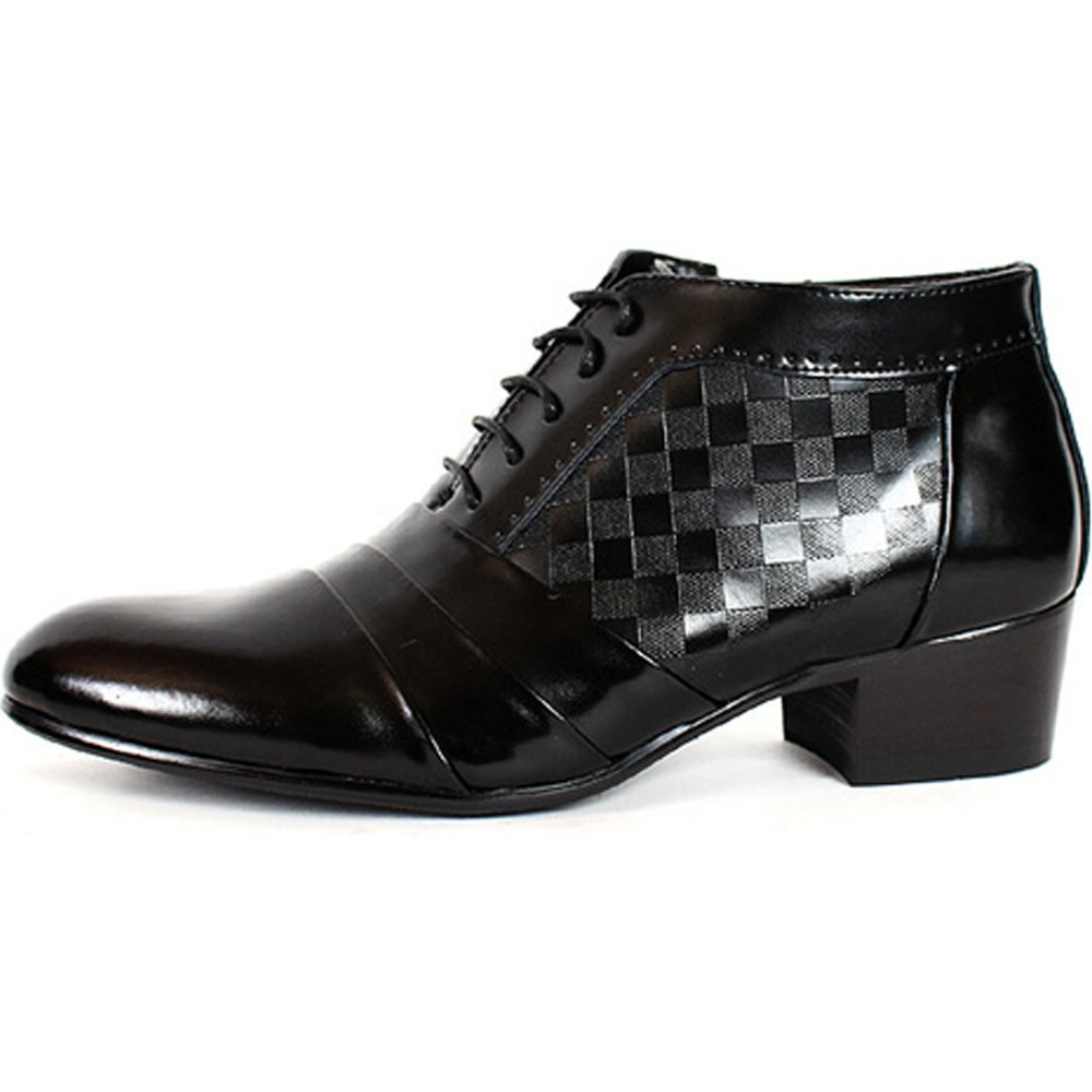 New Mens Oxford Dress Formal Leather Lace up Ankle Boots Shoes Black (9)