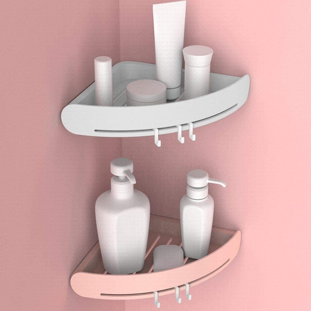 Corner Storage Rack Holder Shelves Bathroom Organizer Triangular Shower Shelf