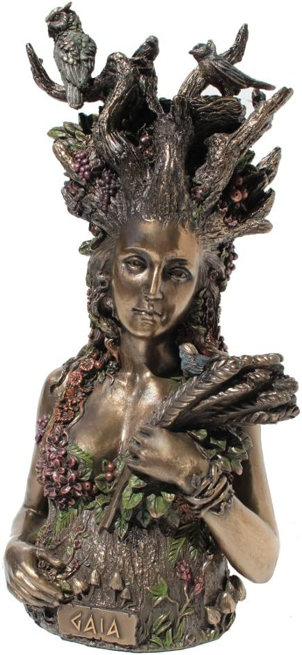 Gaia the Greek Primordial Goddess Of Earth Cold Cast Bronze