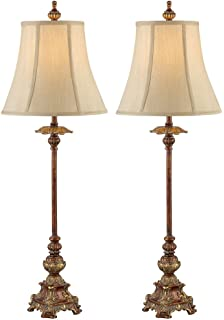 juliette light bronze buffet table lamp set of 2