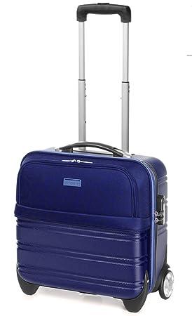Maleta ABS para ordenador Maletín portátil iPad equipaje de mano con ruedas (215 Azul)