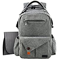 HapTim Multi-Function Large Baby Diaper Bag with Stroller Straps-Insulated Pockets