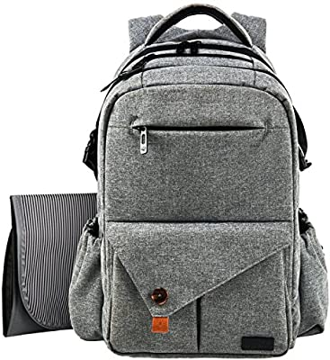 c929942f14c1 HapTim Multi-Function Large Baby Diaper Bag Backpack W Stroller  Straps-Insulated Pockets-Changing Pad