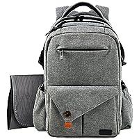 HapTim Multi-function Large Baby Diaper Bag Backpack W/Stroller Straps-Insula...
