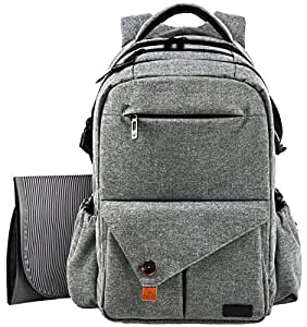 hap tim multi function large baby diaper bag backpack w stroller straps insulated bottle pockets. Black Bedroom Furniture Sets. Home Design Ideas