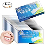 MLMSY 14 Pack Professional Teeth Whitening Strips Bright White Express Strips Save Removes Stains Fast Teeth Whitening Kit (14 Pack)