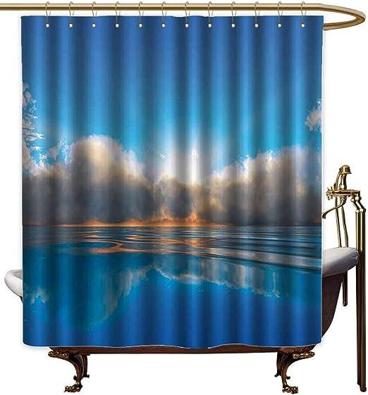 Cortinas de ducha para juegos de baño de océano, decoración de la vida marina con conchas