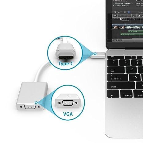 xitad adaptador VGA adaptador tipo C USB C a VGA convertidor ...