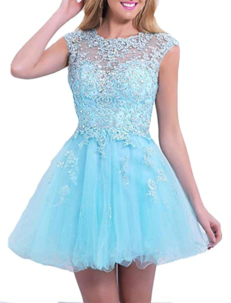 emmani caliente venta corto appliques sin mangas hueca nueva red de la mujer Homecoming Celebrity Prom