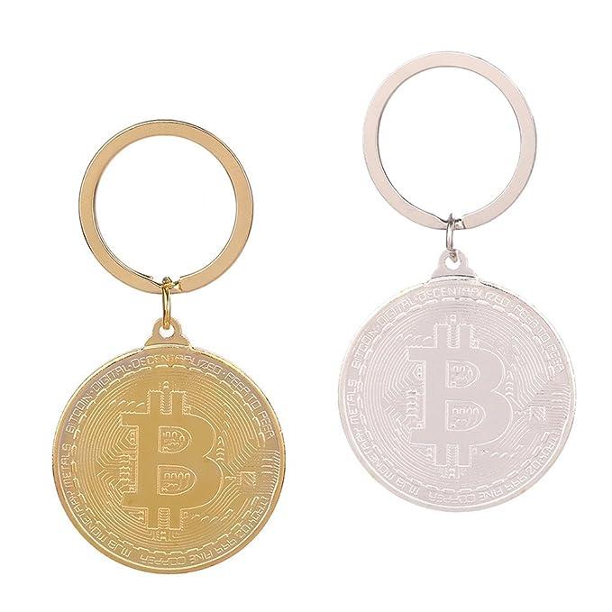 VORCOOL Llavero de Aleación de Bitcoin Moneda Fisica Moneda ...