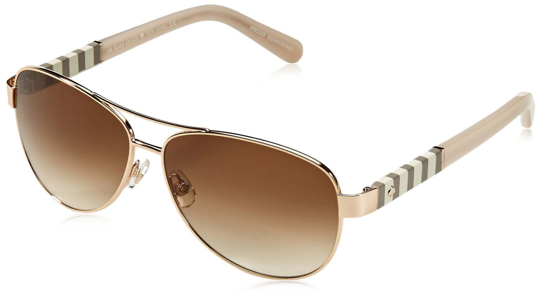 Kate Spade Women's Dalia Aviator Sunglasses, Gold & Brown Gradient, 58 mm