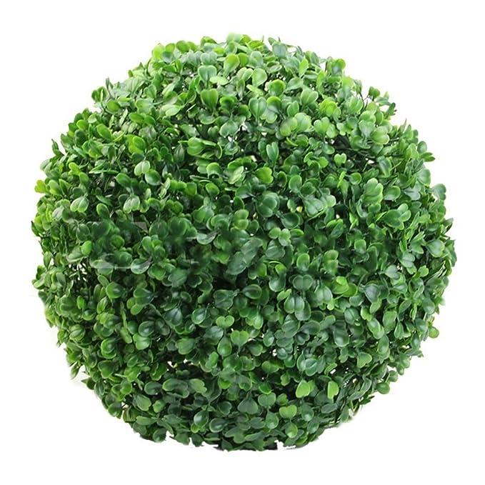 Laduup Kunst-Pflanze Buchs-Baum Kugel, Buchsbaumkugel künstlich Ø 10cm/15cm/20cm/25cm/30cm Buchsbaum Buxus Buxkugelfür Hochze