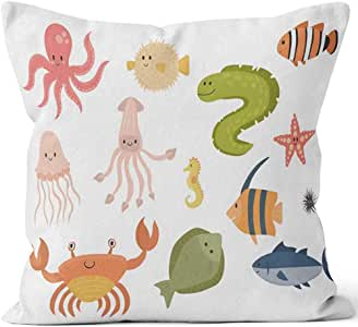 chipo Throw Pillow Covers Animales Marinos Vector