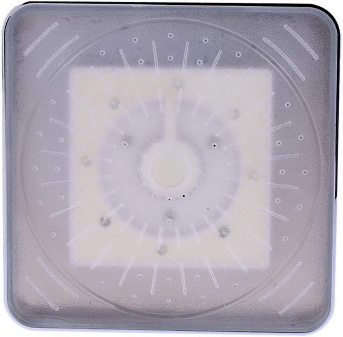 SXYRN LED Alcachofa de Ducha No Necesita Pilas 3 Colores Cambio de Color con la Temperatura Ducha LED de Luz Fácil de Instalar con Alta Presiòn LED Alcachofa Ducha Cuadrad,Colorful Automatic