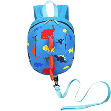 adb5d18b3b99 DB Dinosaur Toddler Mini Backpack with Leash, Anti-Lost Children Backpack,  Kid snak Cartoon Backpack for...