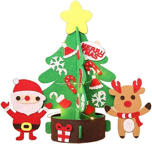 BESTOYARD Mini árbol de Navidad de Mesa Luces con Estrella Papa Noel y Muñeco de Nieve Decoracions Navideñas Decoracion de Mesa para Navidad 32cm Tamaño S: Amazon.es: Hogar