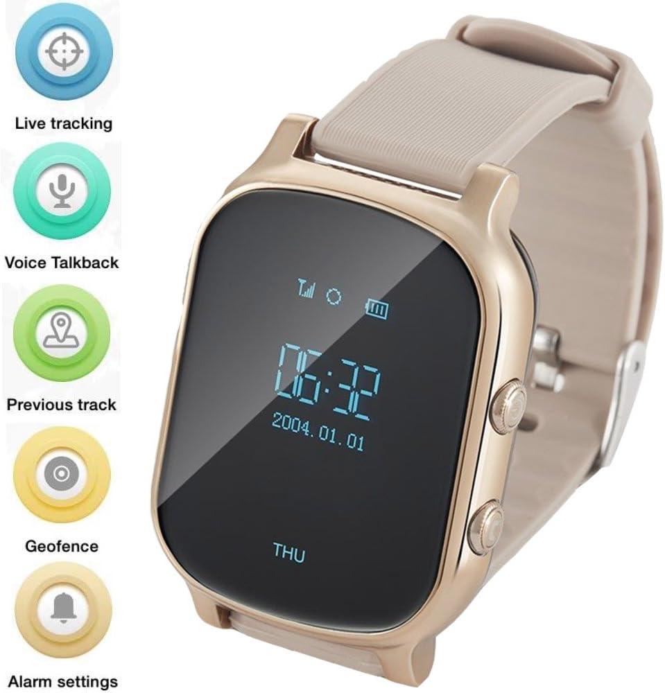 Reloj Gps para niños mayores, reloj inteligente teléfono Gps Tracker con antipérdida SOS localización de llamada localizador podómetro GPS LBS seguimiento real en la aplicación soporte Android IOS T58