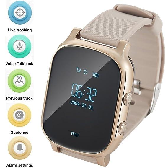 WINNES GPS Tracker Relojes OLED Pantalla Smart Watch Teléfono para Niños Eldrely GPS+lbs + WiFi Posicionamiento Dos Vías Reloj de Llamada de Voz ...