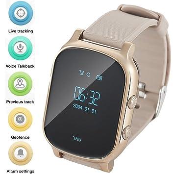 WINNES GPS Tracker Relojes OLED Pantalla Smart Watch Teléfono para Niños Eldrely GPS+lbs +