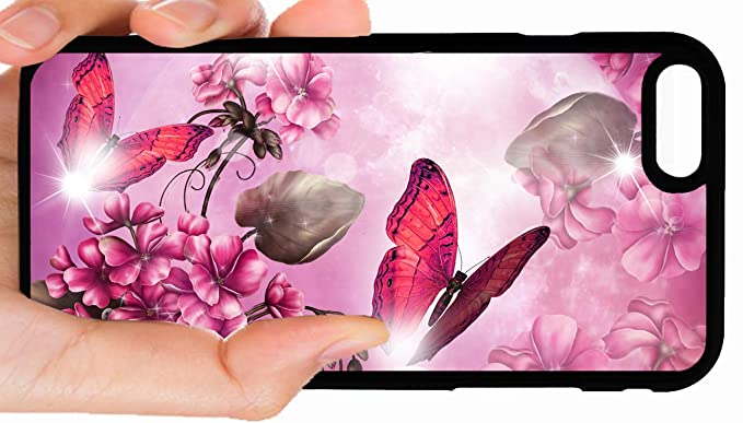 Amazon Com Pink Butterfly Beautiful Insect Pretty Flower Scenery