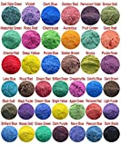 390g Cosmetic Grade Natural Mica Powder Pigment Soap Candle Bath Bombs Eyeshadow Lipsticks Colorant Dye 39 Color (10 grams Each, 390 Grams Total)