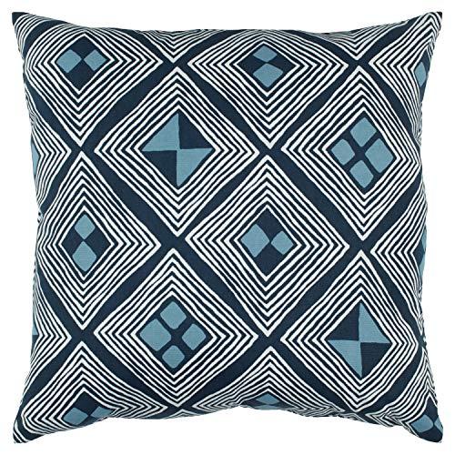 Rivet Mid-Century Diamond Pillow, 17″ x 17″ , Blue