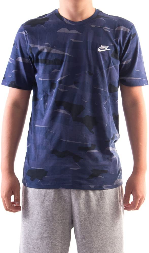 NIKE M NSW tee Camo Pack 1 - Camiseta, Hombre, Multicolor(Light Carbon/Blue Recall/White): Amazon.es: Deportes y aire libre