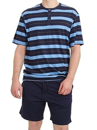 84711a30d38cff Seidensticker Herren kurzer Schlafanzug Pyjama Kurz - 141099, Größe Herren:48,  Farbe: