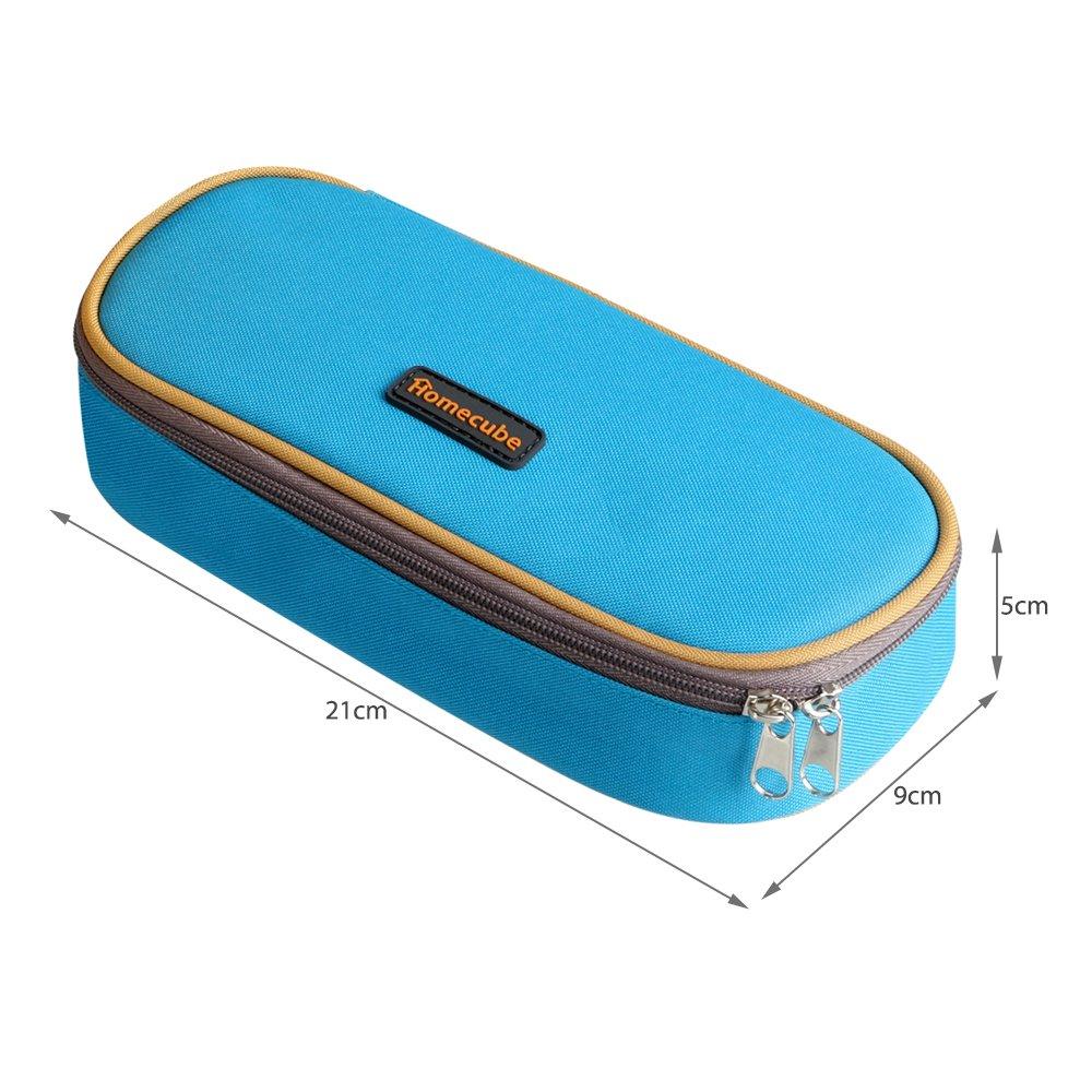 per cancelleria di studenti colore blu spazioso Homecube Astuccio portamatite