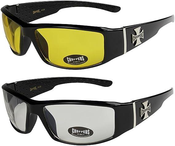 2er Pack X-CRUZE® Fahrradbrille Sonnenbrille Herren Damen Männer Frauen weiß