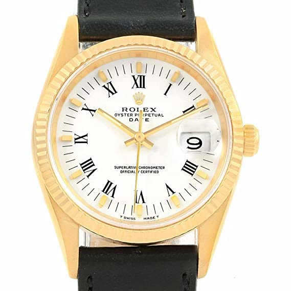 Rolex Fecha automatic-self-wind Mens Reloj 15238 (Certificado) de segunda mano: Rolex: Amazon.es: Relojes