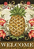 Toland Home Garden Pineapple & Scrolls 28 x 40 Inch Decorative Welcome Fruit Flower Double Sided House Flag
