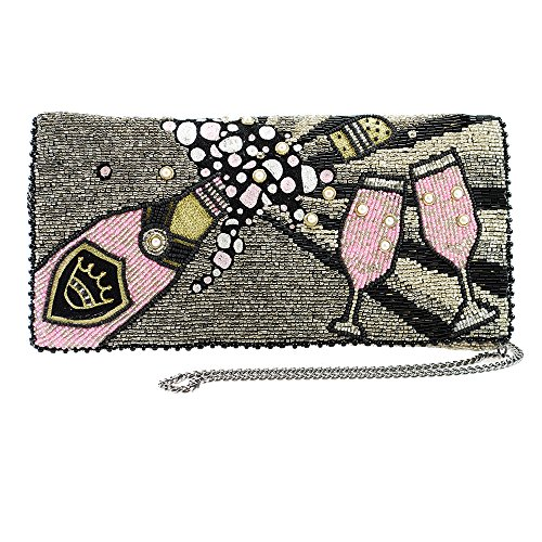 Marry Frances Come To The Party Champagne Multi Bag Handbag Beaded Winter New by Mary Frances