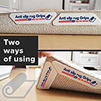 Rug Gripper (8-Pack) Secures Rug Pad Corners/Edges in Place to Prevent Rug from Shifting Slipping Sliding Keeps Corners down to help Protect Against Tripping Easy to use Rug Gripper Rug Pad