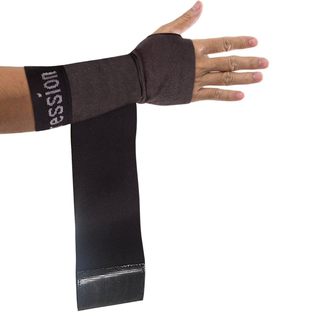 Copper Compression New Recovery Wrist Sleeve with Adjustable Wrap for Extra Support. Guaranteed Highest Copper Wrist Brace. Carpal Tunnel, RSI, Sprains, Workout (1 Sleeve Medium - Fits Either Hand)